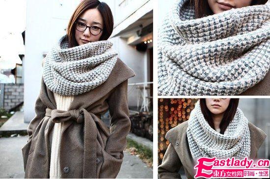 冬季保暖搭 围巾越大越有范