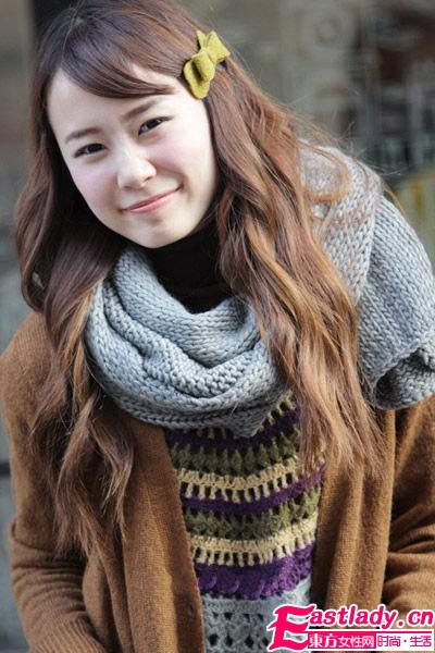 冬季针织围巾最潮搭  让世界为你着迷