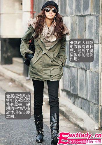 街头型女最爱棉服 冬日必备心水之物