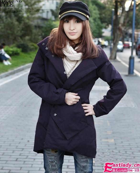 韩版过腰棉外套 秀出冬季曼妙好身材
