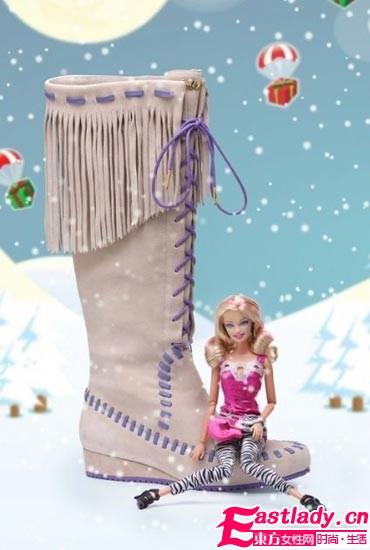 大牌女鞋Barbie by WHAT FOR演绎小女孩的雪地童话