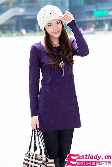 冬季修身针织衫 凸显女性魅力