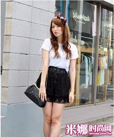 黑色蕾丝高腰裙
