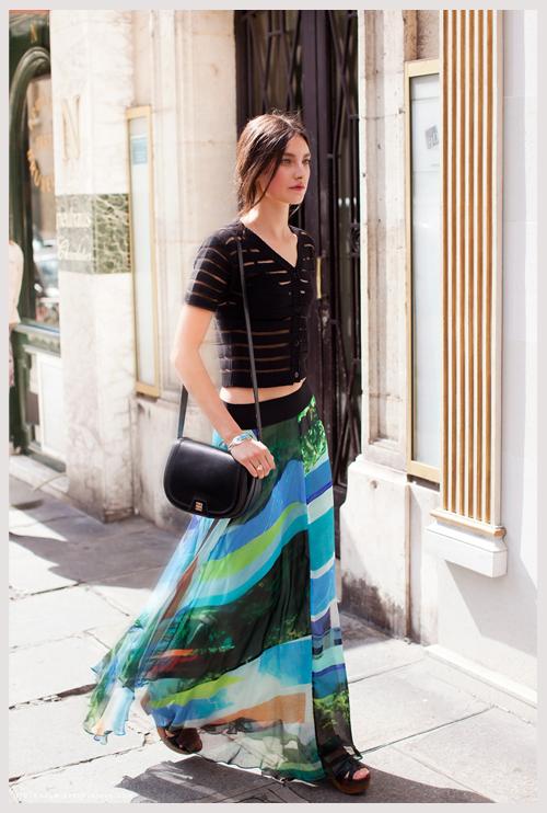 八月欧美街拍第一季 火辣裙子穿出清冷一夏