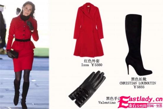 皮质手套不能少 变身时尚女郎