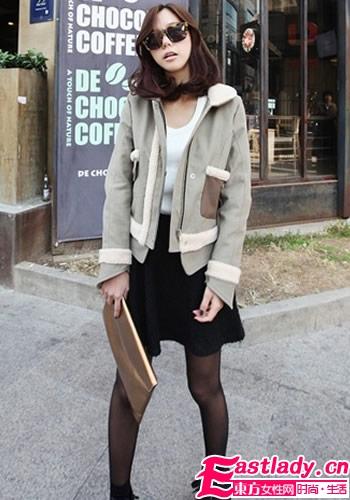 短打外衣试着穿 矮个女生变高挑