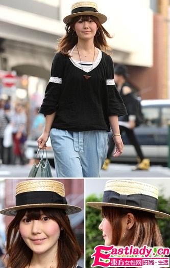 可爱编织礼帽搭自然直发
