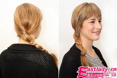 简单又别致的变异辫子发型编法