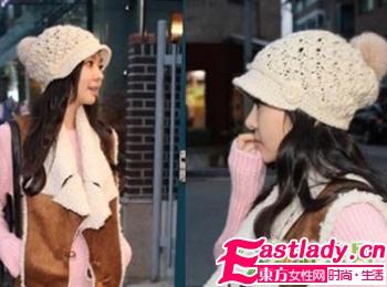 冬季最爱 浪漫韩风帽子巧搭长发