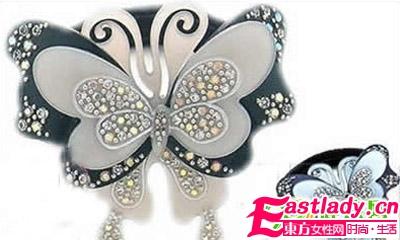 设计独特的蝴蝶造型发饰