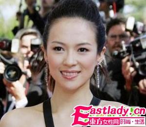 章子怡示范时尚甜美新娘发型