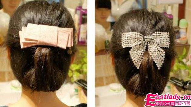 DIY韩式盘发发型做优雅淑女