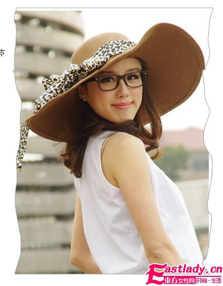 时尚复古遮阳帽夏日里的柔情似水