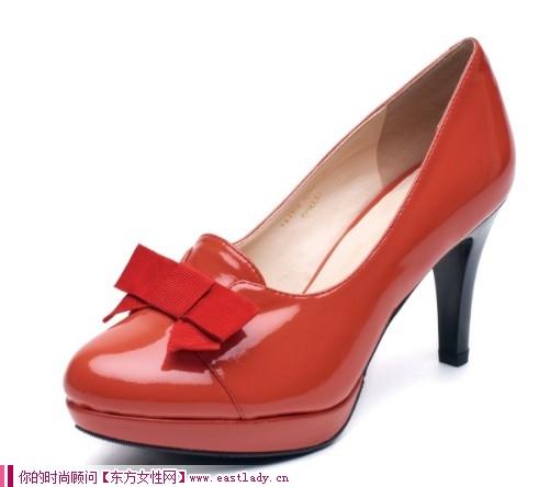 KISS CAT新款漆皮粉红色高跟鞋 圆你的公主梦