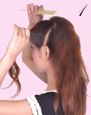 2012秋季新款马尾辫的扎法图解