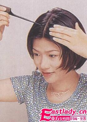 蓬松复古式短发发型彰显野性美