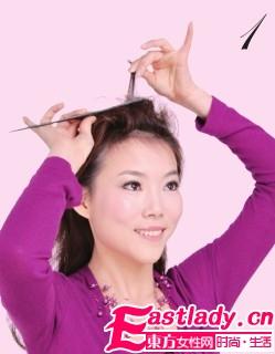 时尚侧马尾辫发型 使人赏心悦目