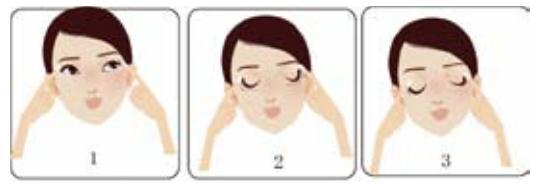 一分钟面部按摩 消除眼角皱纹