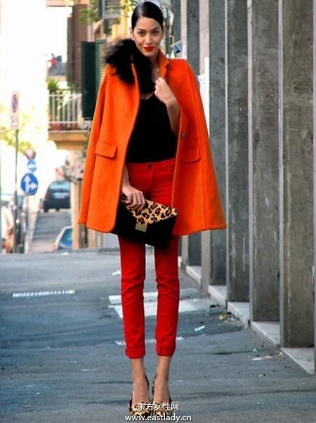 2013年春节服装搭配 红色大衣是主角