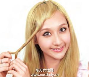 卡哇伊斜刘海发型设计 马上变可爱