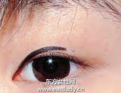 打造圆圆超萌眼睛眼线的画法