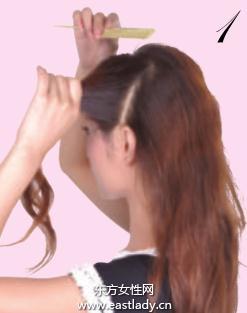 2013最新马尾辫的扎法图解
