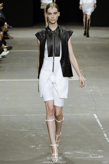 2013春夏时装周黑白搭成流行色