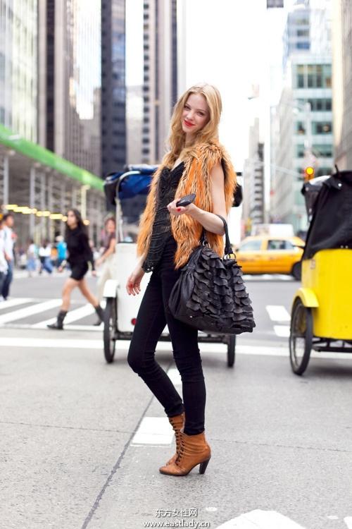 2013年2月初看欧美时尚达人如何春装搭配
