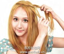2013今年最流行的发型清爽辫盘发发型