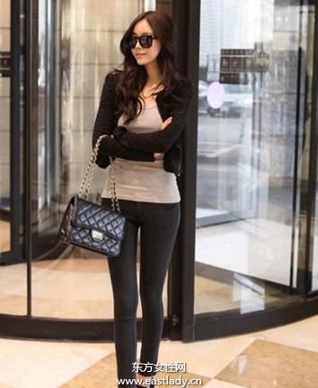 百搭紧身裤穿出女性优雅气质