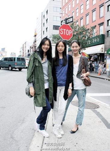 中国潮MM街头街拍演绎青春活力