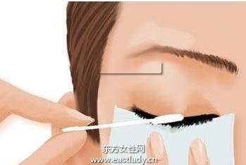 化妆教程之正确卸除眼部妆容