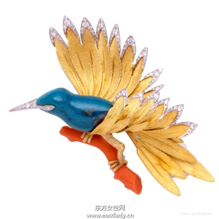 鸟儿胸针奢华大气