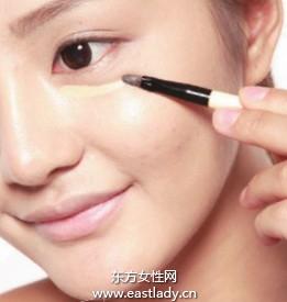 化妆教程之修正脸颊处色斑、粉刺