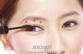 延长眼形的眼线画法