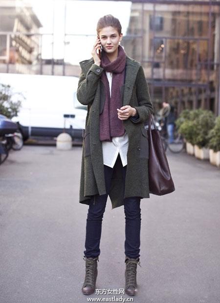 跟欧美达人学穿长款大衣