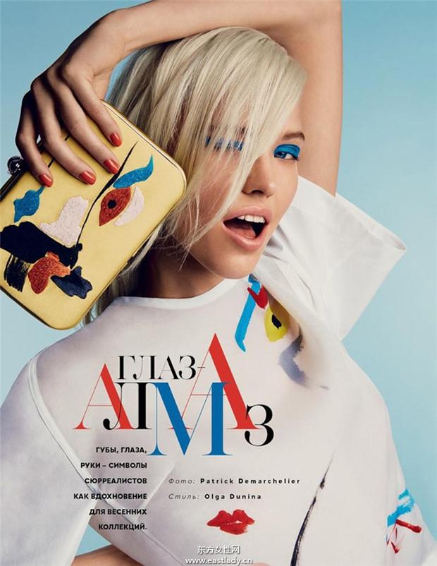 Sasha Luss《Vogue》2014年1月俄罗斯版