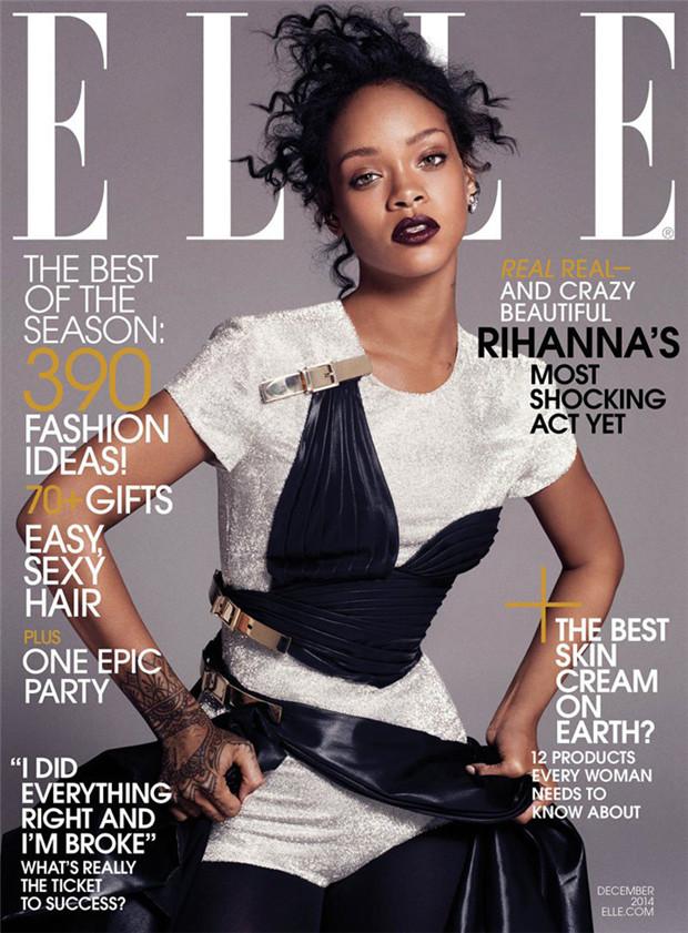 Rihanna《Elle》服装时尚2014年12月号
