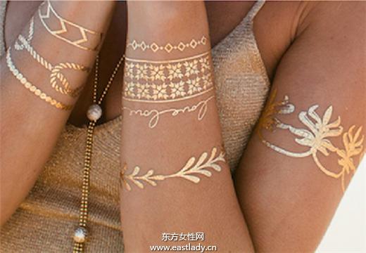 超酷 明星也爱用的金属色系纹身贴纸