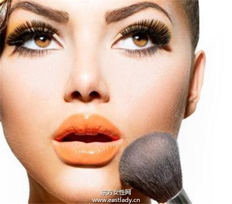 超强腮紅画法打造精致小脸
