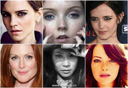 有斑又怎样 看7位脸上有雀斑女星自信晒斑点照