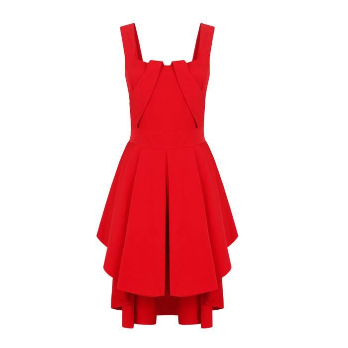 红色连衣裙搭配  让你轻松百变