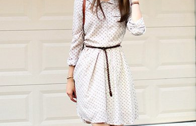 秋季连衣裙长袖搭出早秋气质