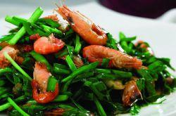 春天绝对少不了的美味 韭菜炒河虾