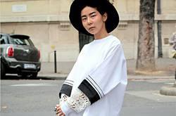 韩国谐星金娜英街拍时尚感十足