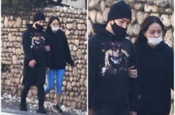 Bigbang太阳与闵孝琳约会照曝光 街头甜蜜牵手散步