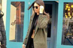 军绿色外套怎么搭配 欧美嫩模都这么穿