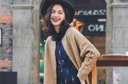 2016早春时尚街拍 毛衣外套怎么穿怎么美