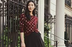 活力大表姐刘雯纽约印花style时尚街拍