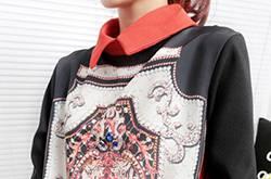 欧美复古风碎花衬衫搭配 奢华霸气尽显女王气质范儿